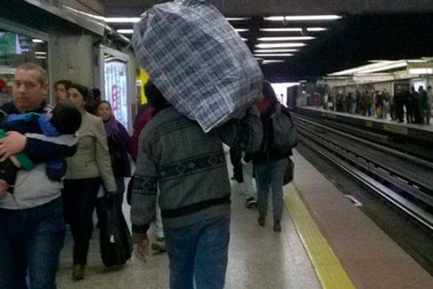 bultos en el metro