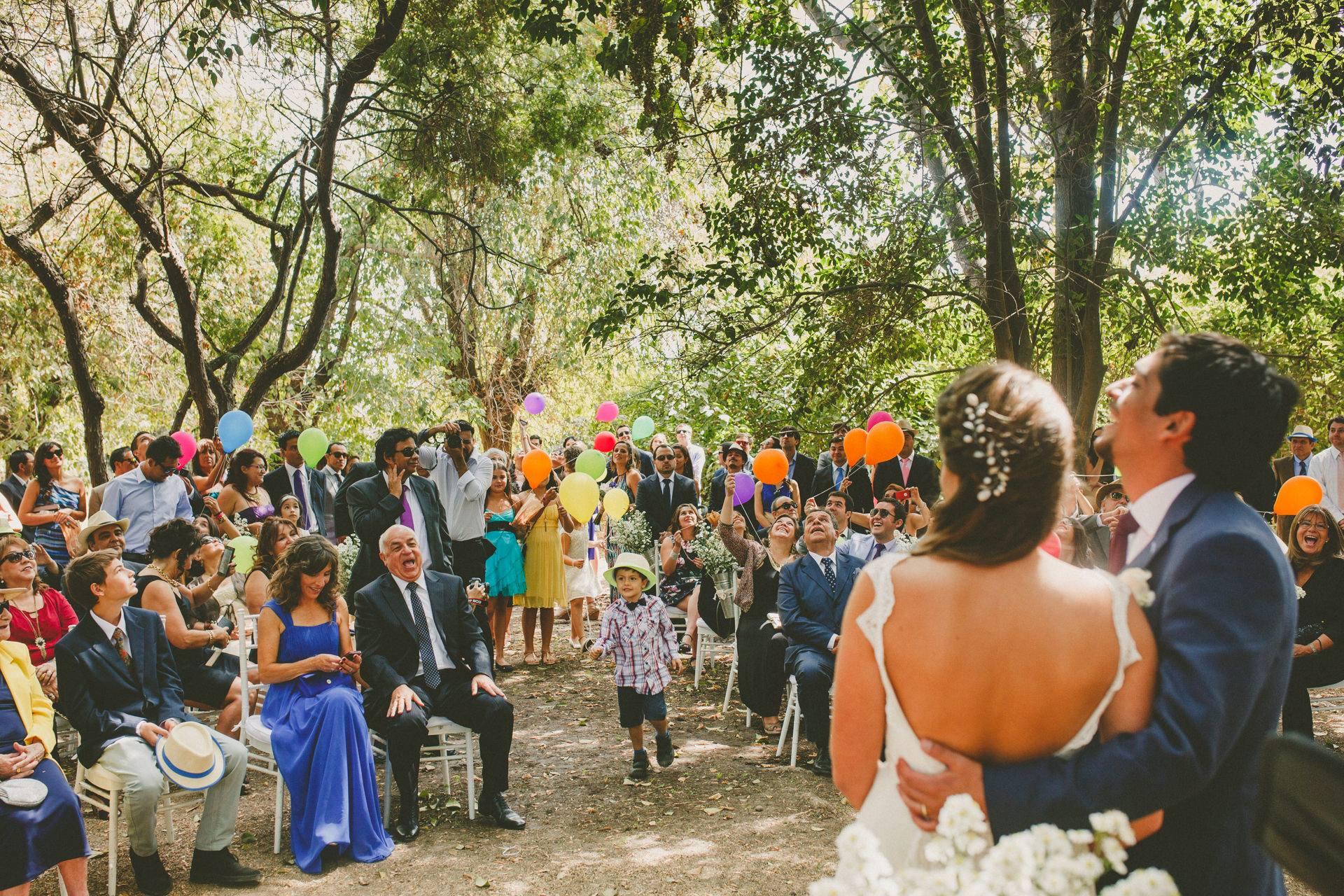 Ideas no tradicionales ceremonia de boda